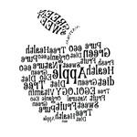 Переводная наклейка «Яблоко из слов»