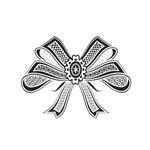 Переводная татуировка «Черный бант»