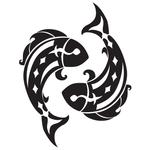 Наклейка тату «Знак Рыбы»