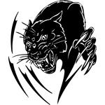 """Переводная татуировка """"Оскал пантеры"""""""