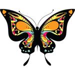 """Переводная татуировка """"Бабочка с цветным узором"""""""