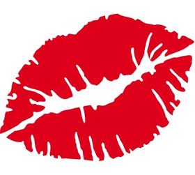 """Переводная татуировка """"Красные губы"""""""