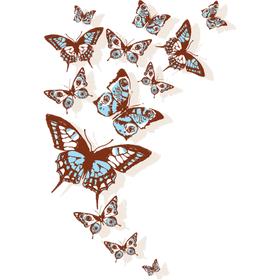 """Переводная татуировка """"Бабочки 3D"""""""