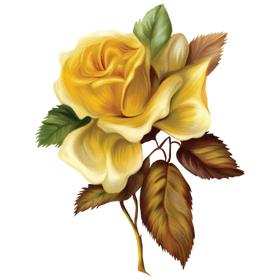 """Переводная татуировка """"Желтая роза"""""""