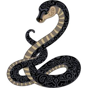 """Переводная татуировка """"Змея с узором"""""""