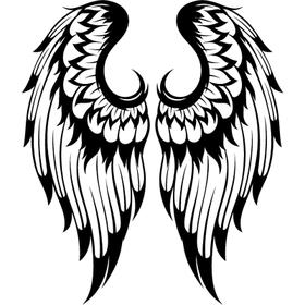 """Переводные татуировки """"Черно-белые крылья"""""""
