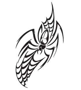 Переводная наклейка «Паук в паутине»
