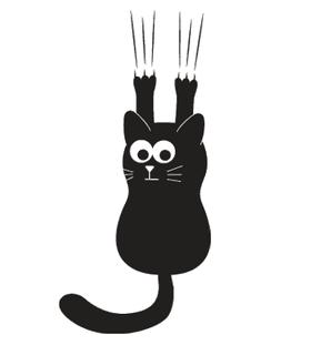 Переводная тату «Черная кошка»