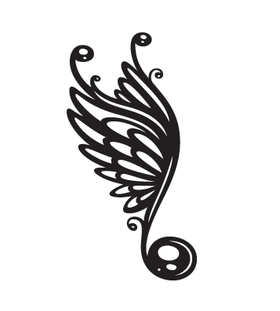Переводная тату «Нота с крыльями»
