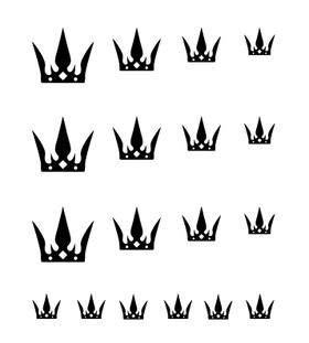 Переводная наклейка для тела и ногтей «Корона»