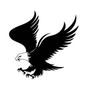 Переводная тату в виде орла
