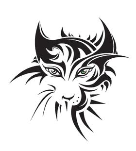 Переводная тату «Морда кошки»