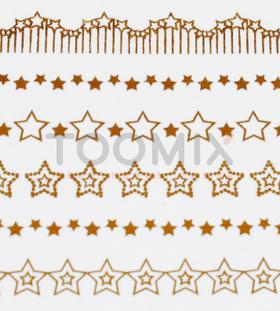 Золотая наклейка на ногти «Звезды»