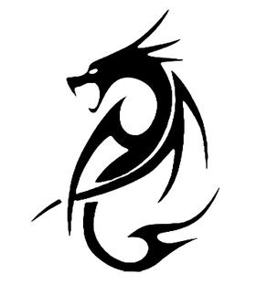 """Переводная татуировка """"Черный дракон"""""""