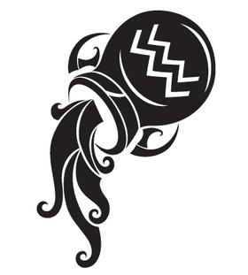 Переводная тату «Знак Водолея»