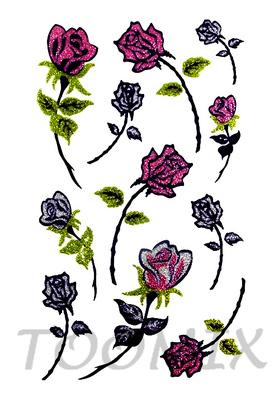 Тату временная «Бутон розы»