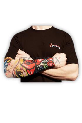 Рукав татуировка «Череп с розой»
