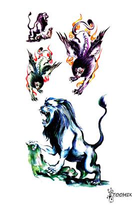 Переводная тату «Лев с крыльями»