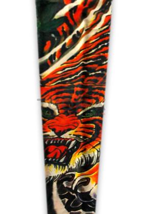 Временный тату рукав «Оскал тигра»