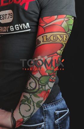 Тату рукав «Роза.True love»